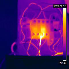 Thermal Image showing electrical overload