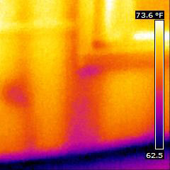 Thermal Image of an insulation leak